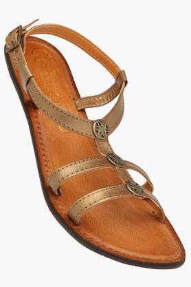 CATWALKWomens Casual Ankle Buckle Closure Flat Sandal
