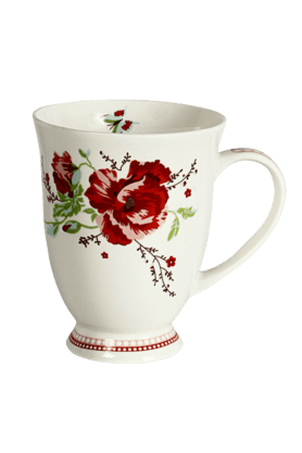 DEVON NORTH Red Poppy Mug