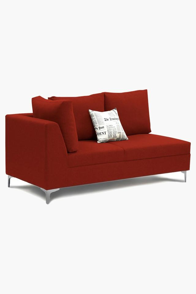 Cherry Red Water Repellent Fabric Sofa (Lounger)