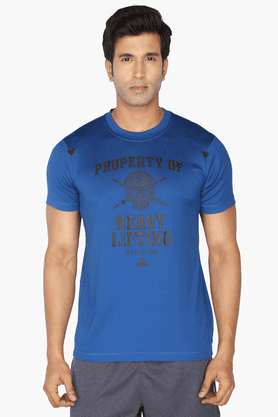 ADIDASMens Round Neck Short Sleeves Printed T-Shirt - 200681169