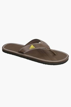 ADIDAS Mens Synthetic Leather Slip On Slippers  ... - 201915452