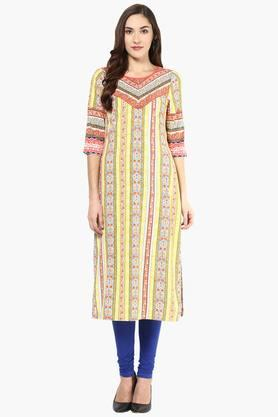 FUSION BEATS Women Printed Kurta - 201996685