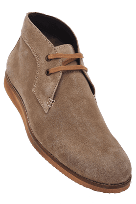 ALLEN SOLLYMens Leather Casual Lace Up Shoe
