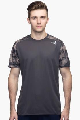ADIDAS Mens Round Neck Solid T-Shirt - 201142843