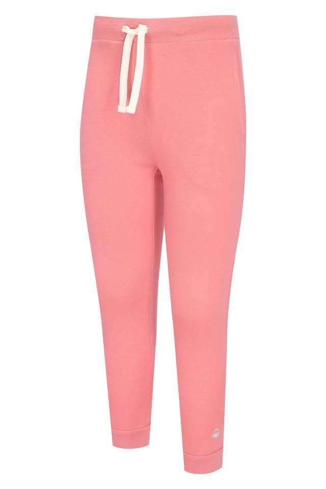Girls 2 Pocket Solid Joggers