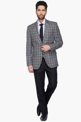 Mens Check Single Breasted Blazer