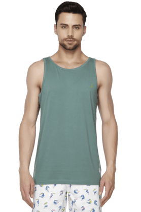 BAY ISLAND Mens Solid Round Neck Vest