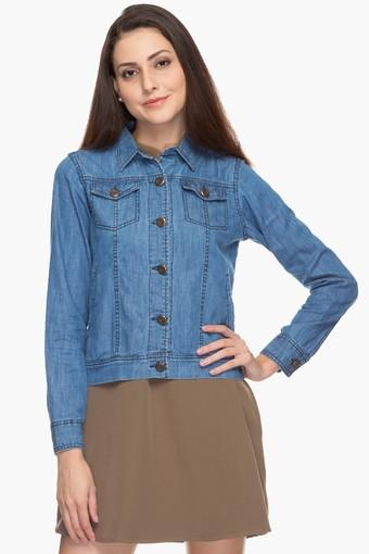Womens Basic Casual Denim Jacket