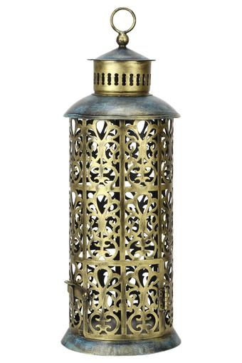 Cylindrical Tejas Cutwork Lantern