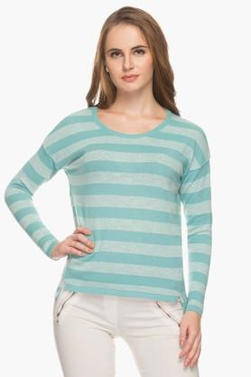 EXCLUSIVE LINES FROM BRANDS Womens Round Neck Stripe Pullover - 201320472