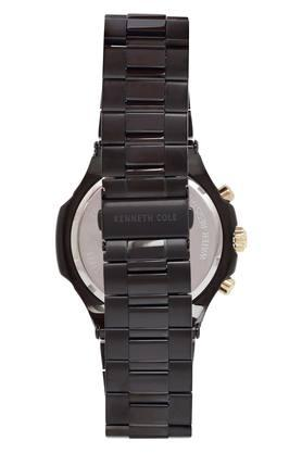 Mens Black Dial Metallic Chronograph Watch
