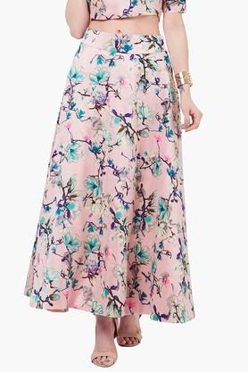 INDYA Womens Printed Maxi Skirt - 201845613