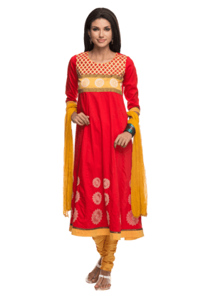 IMARA Women Embellished Churidar Suit