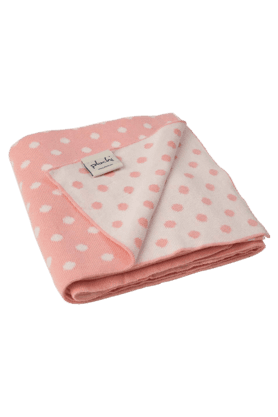Tiny Dots Knitted Baby Blanket