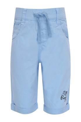 Boys 5 Pocket Solid Shorts
