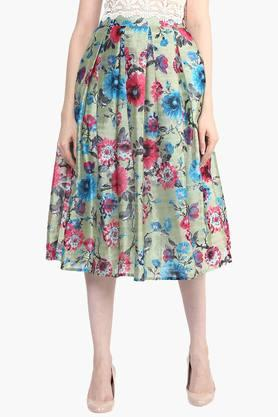 MISS CHASEWomens Printed Midi Skirt