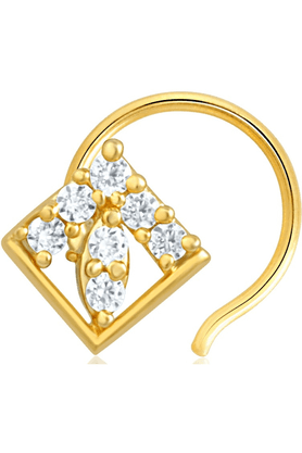 MAHI Gold Plated Nose Pin With CZ For Women NR1100126G