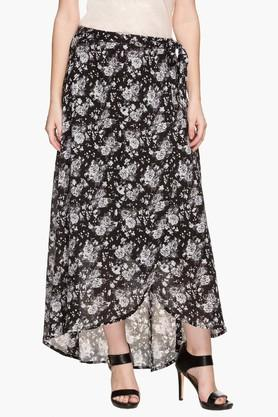 STOP Womens Printed Asymmetrical Long Skirt