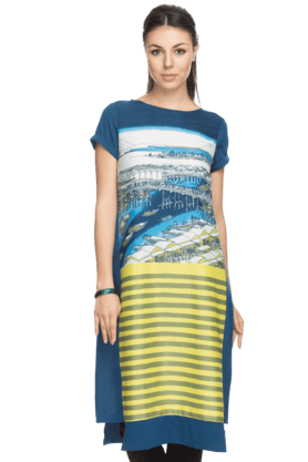 W Womens Printed Straight Kurta
