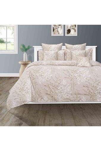 SWAYAM -  GreyDouble Bed Sheets - Main