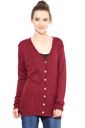 THE VANCA Women Woollen Sweater - 200344438