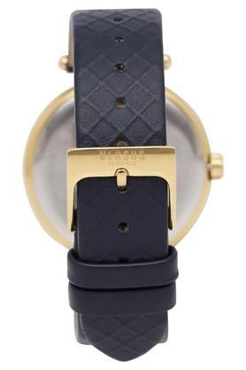 Womens Black Dial Leather Analogue Watch - VSP870318