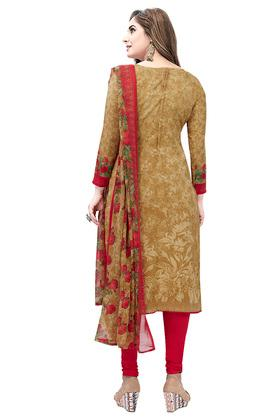 Womens Floral Print Salwar Suit Dress Material with Dupatta - Pack of 2
