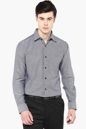 Raymond Formal Shirts (Men's) - Mens Slim Fit Slub Shirt