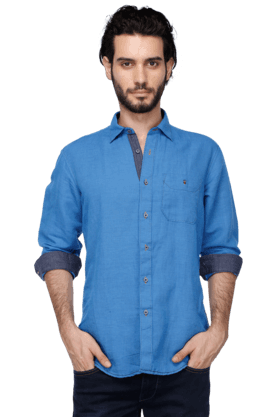 Louis Philippe Jeans Formal Shirts (Men's) - Mens Full Sleeves Slim Fit Casual Solid Shirt