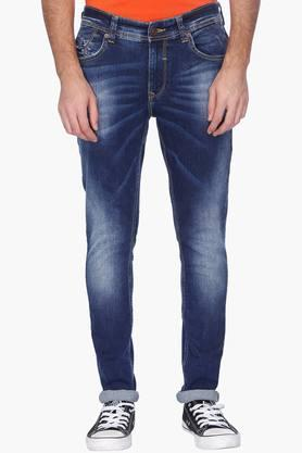 SPYKARMens Skinny Fit Heavy Wash Jeans (Super Skinny Fit)