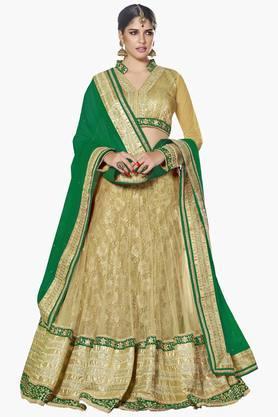 MAHOTSAVWomens Embellished Semi-stitched Lehenga Choli - 201643956