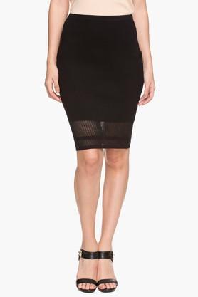 ELLEWomens Knee-length Mesh Skirt