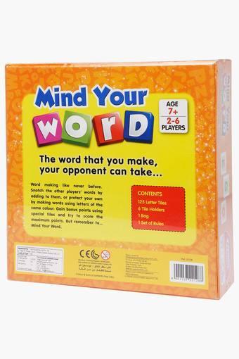 Unisex Mind Your Word Scrabble
