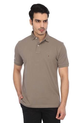 TOMMY HILFIGER -  BrownT-shirts - Main
