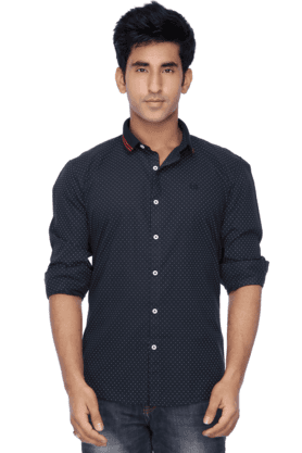 Mens Full Sleeves Casual Dotted Shirt
