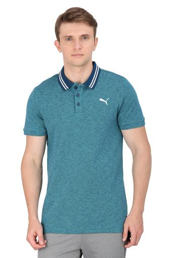 Mens Striped Sports Polo T-Shirt