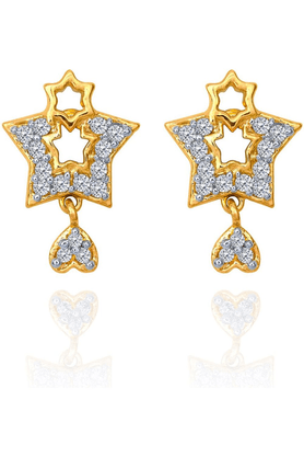 MAHIMahi Gold Plated Starrred Treat Made With CZ Stones For Women ER1108600G