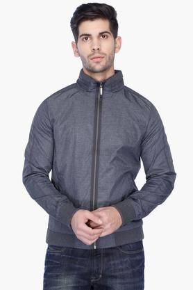 UNITED COLORS OF BENETTON Mens Regular Fit Slub Jacket