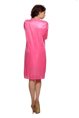 2 Pcs Satin Nightwear Set - Short Robe & Nightie