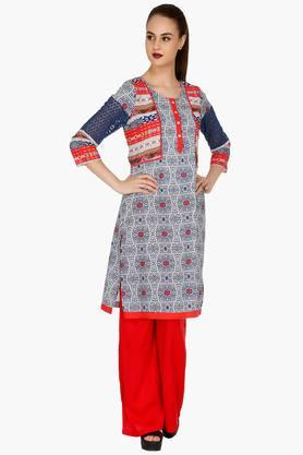 FUSION BEATS Women Printed Kurta