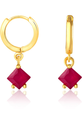 MAHI Mahi Gold Plated Great Alchemy Earrings With CZ And Ruby For Women ER1108863G