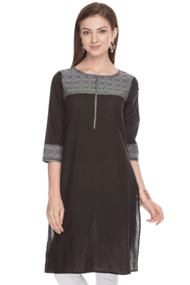 AURELIA Women Slim Fit Printed Kurta - 200758772