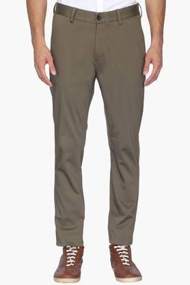 ALLEN SOLLY Mens Slim Fit 4 Pocket Solid Chinos  ... - 202182962