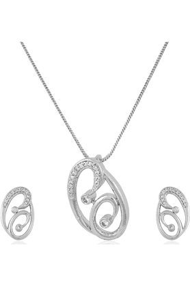 SIASet In Silver Colour Plating-16604