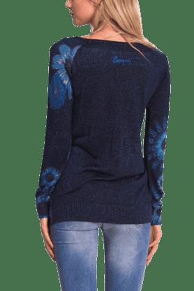 Women Blended Print Pullover