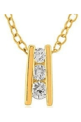 SPARKLESHis & Her Collection 92 Kt Diamond Pendants In 925 Sterling Silver Diamond HHP8288-92KT