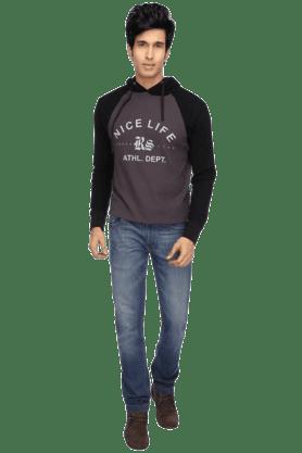 Mens Long Sleeves Hooded Sweat Shirt