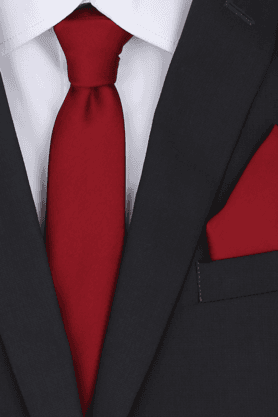 Men Tie and Pocket Square Set