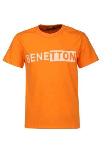 UNITED COLORS OF BENETTON -  OrangeTopwear - Main