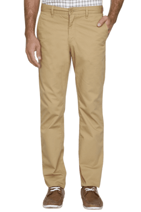 ALLEN SOLLY Mens Slim Fit Solid Chinos - 200960864